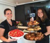 Crew presenting breakfast