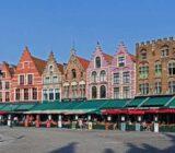 Bruges Grote Markt colorful houses