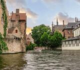 Bruges canal  boat
