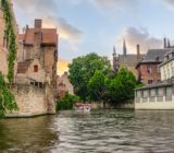 Bruges canal  boat x