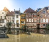Ghent houses near water  x