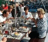 Guests aboard the ship x