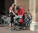 Utrecht  cyclists studying map x