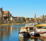 Auxerre boats at river